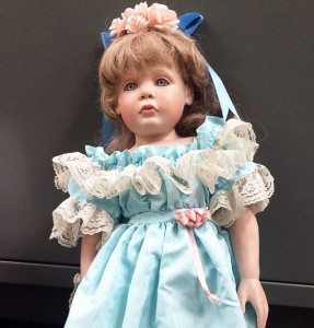 Porcelain Doll Left Anonymously on Doorstep In Talega, California. Courtesy Orange County Sheriff's Dept