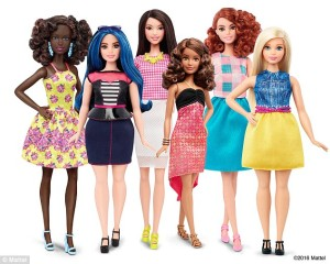 Barbie Fashionista Dolls - Tall, Curvy and Petite